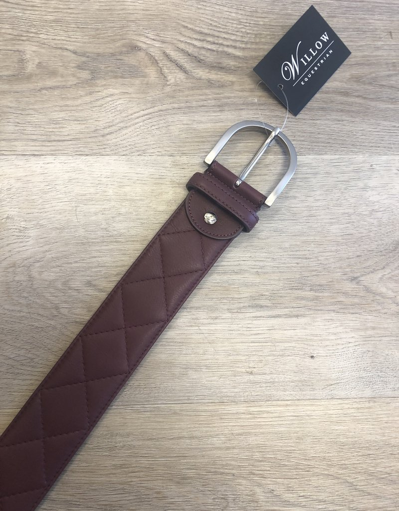 """Tailored Sportsman Tailored Sportsman Belt - Quilted """"C"""" Bordeaux M"""