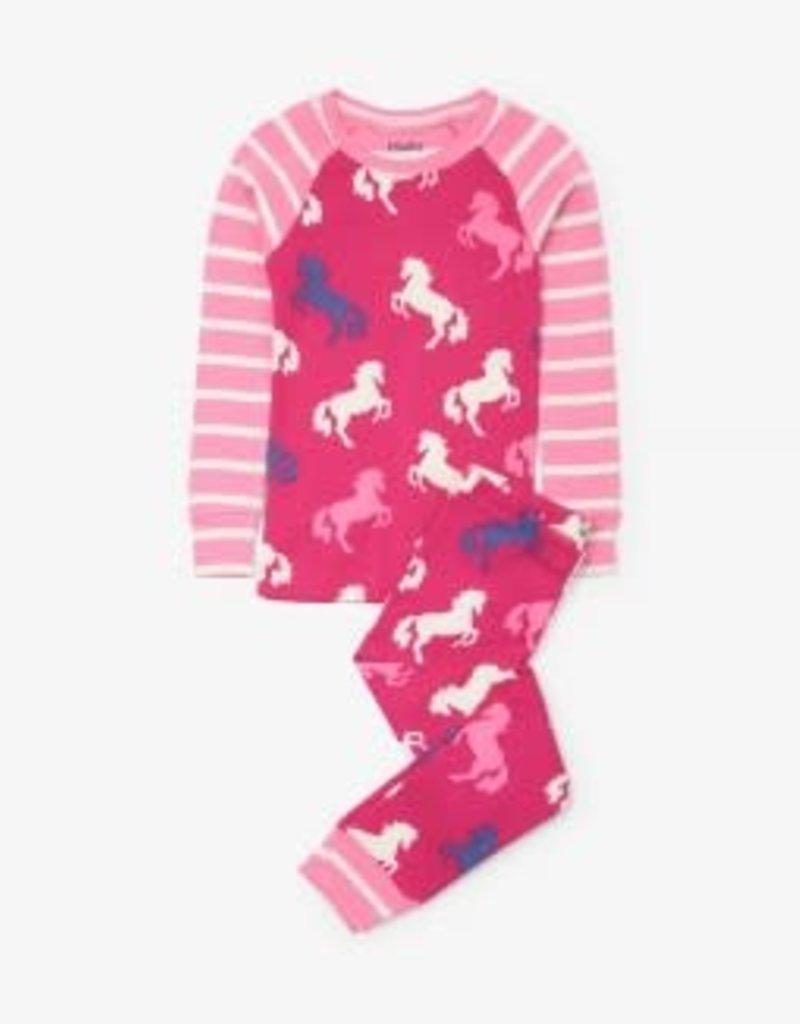 Hatley Hatley Playful Horses PJ - Raglan