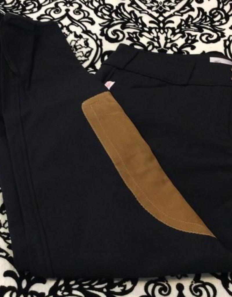 Tailored Sportsman Lowrise Front Zip Breech Black/Tan