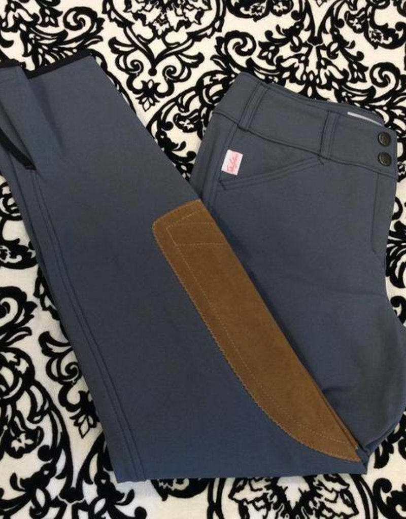 Tailored Sportsman Lowrise Front Zip Breech Blue Granite/Tan