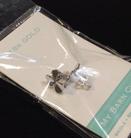 My Barn Child My Barn Child 18K Gold Earrings - White Gold/Clover
