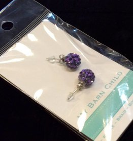 My Barn Child My Barn Child Bling Earrings - Purple