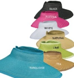 "Scala Scala 4"" Paper Braid Roll Up Visor"