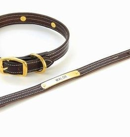Walsh Company Inc. Walsh British Dog Collar Havana/Brass