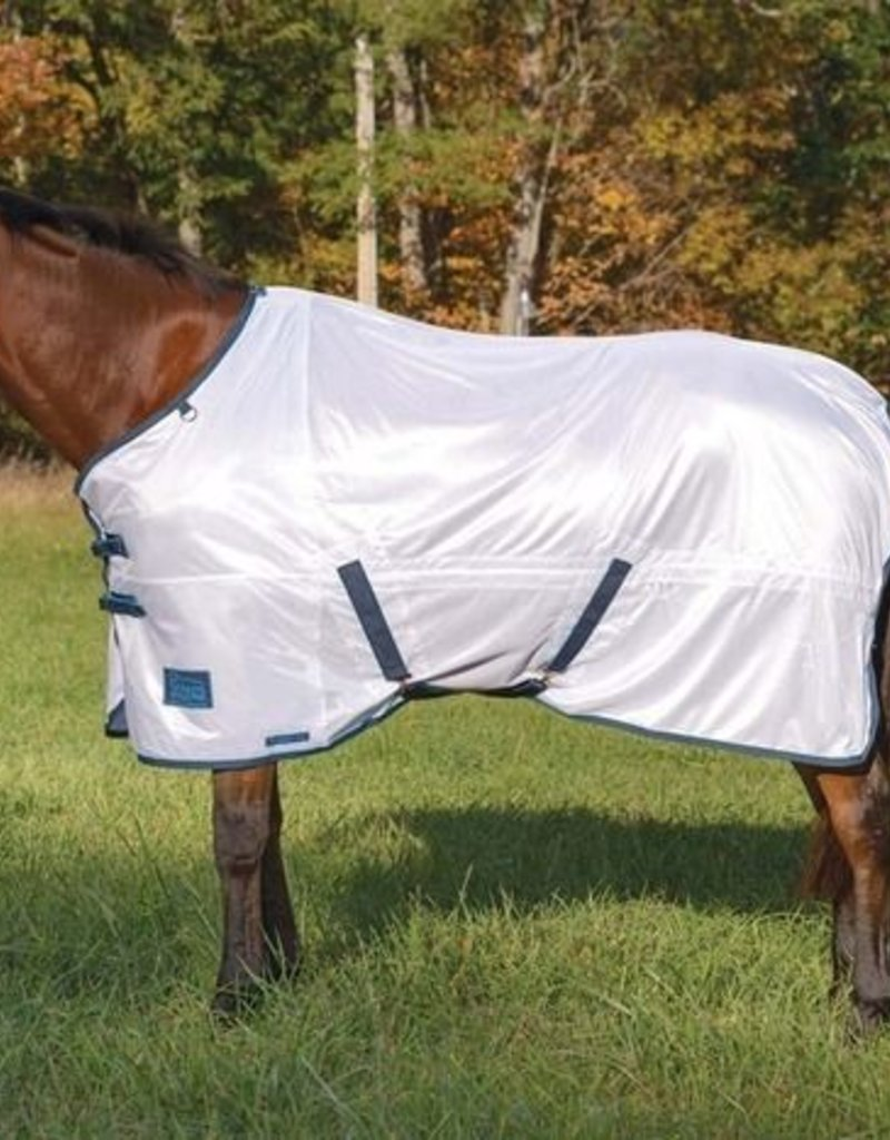 Shires Tempest Fly Sheet White/Turquoise