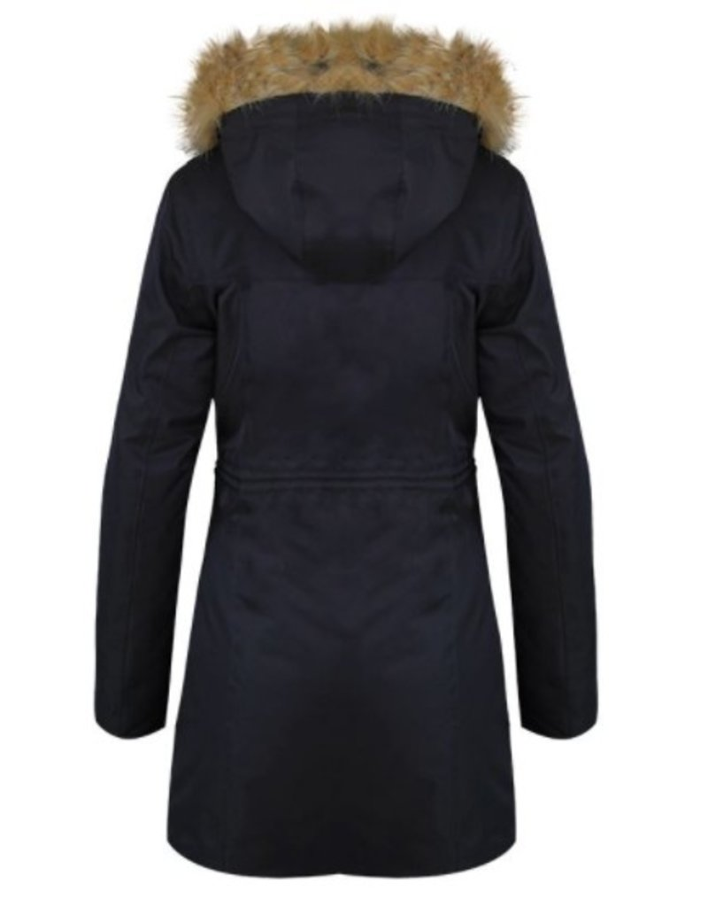 Harcour Deneuve Women's Long Padded Winter Jacket Black