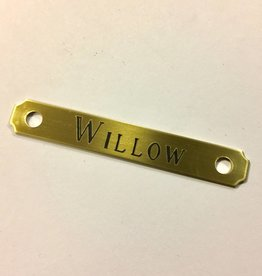Engraved Brass Square Bridle Plate