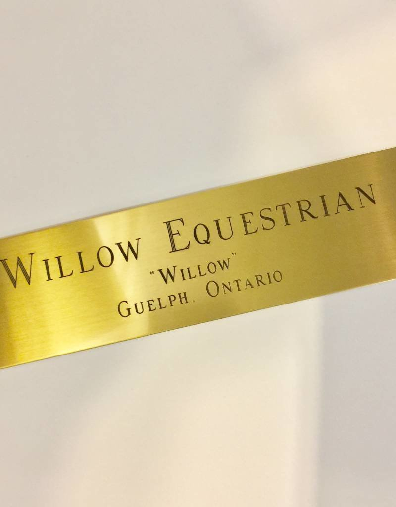 Engraved Brass Square Stall Plate