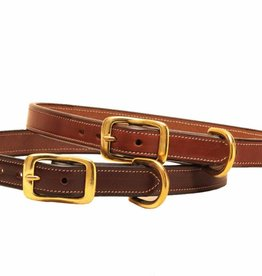 Tory Tory Stitched English Leather Dog Collar