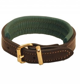 Tory Padded Leather Bracelet Havana/Green with Nameplate