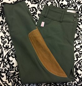 Tailored Sportsman Tailored Sportsman Lowrise Front Zip Breech Loden Green/Tan
