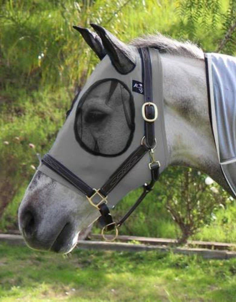 Professional's Choice Comfort Fit Lycra Fly Mask Grey