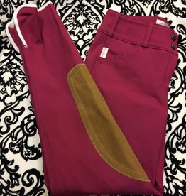 Tailored Sportsman Tailored Sportsman Lowrise Front Zip Breech Claret/Tan