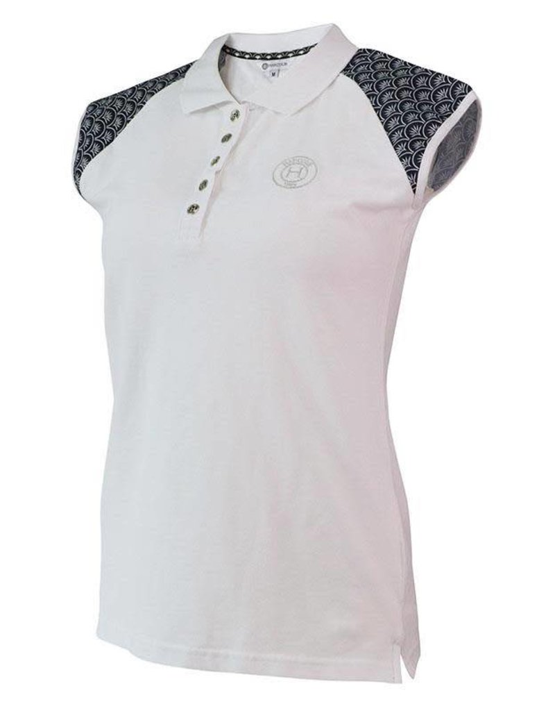 7d386b846152 Harcour Tiffany Womens Polo White - Willow Equestrian