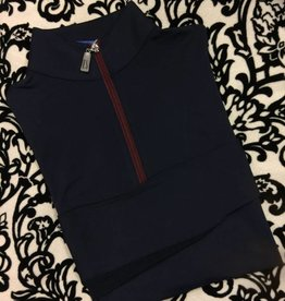Tailored Sportsman Tailored Sportsman Icefil Shirt Navy/Cranberry
