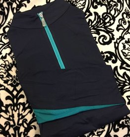 Tailored Sportsman Tailored Sportsman Icefil Shirt Navy/Turquoise