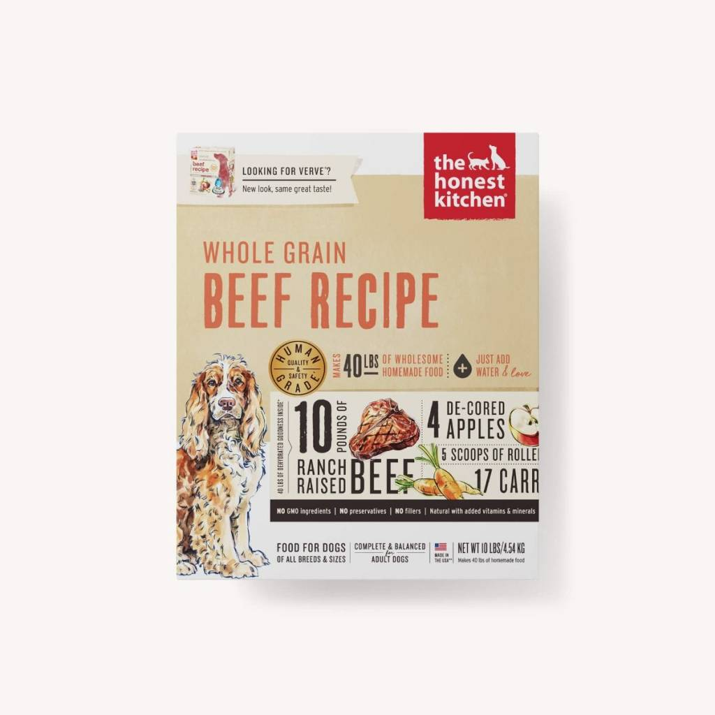 The Honest Kitchen The Honest Kitchen Whole Grain Beef Recipe Dehydrated Dog Food