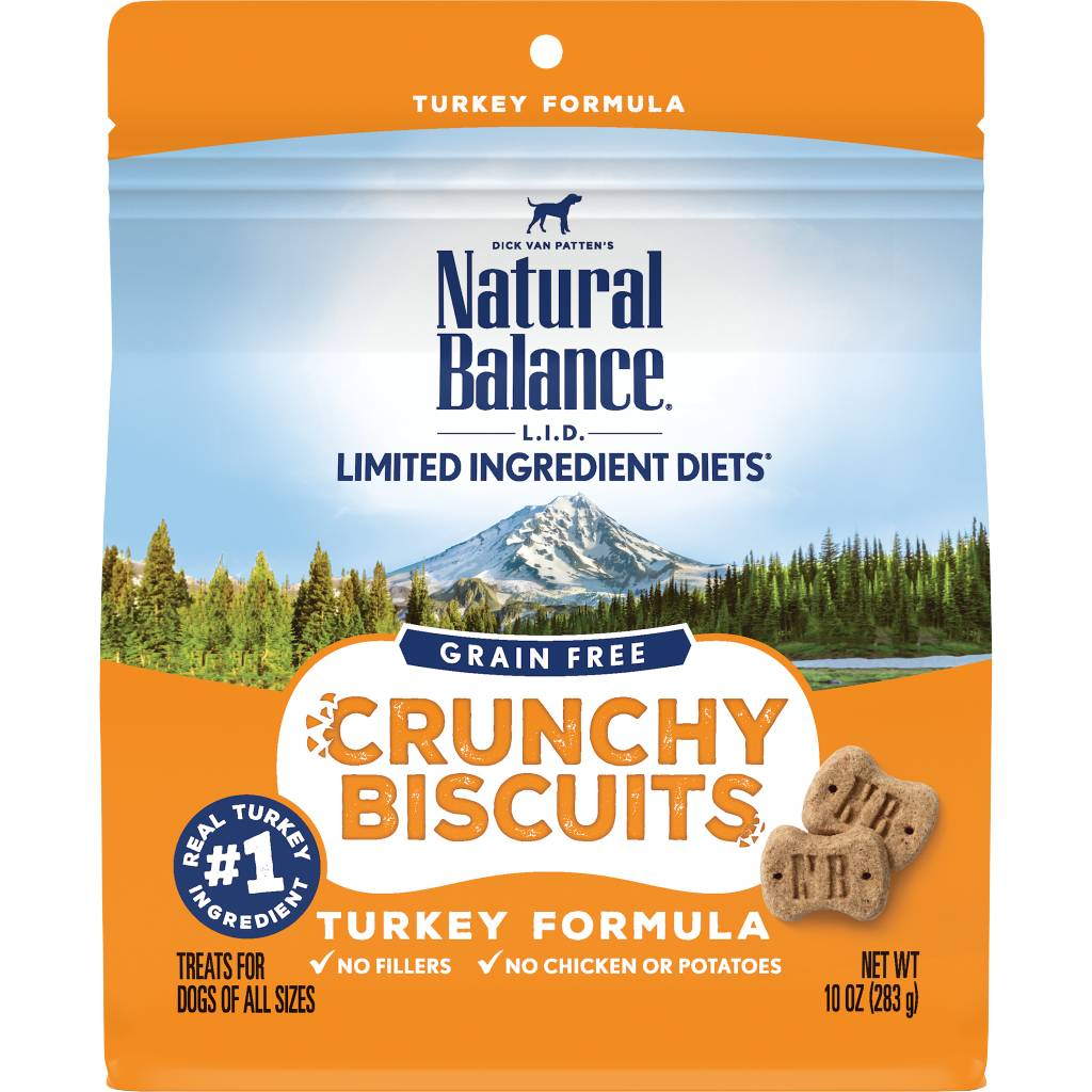 Natural Balance Natural Balance Limited Ingredient Crunchy Biscuits Turkey Dog Treats 10oz