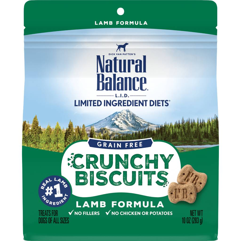 Natural Balance Natural Balance Limited Ingredient Crunchy Biscuits Lamb Dog Treats 10oz