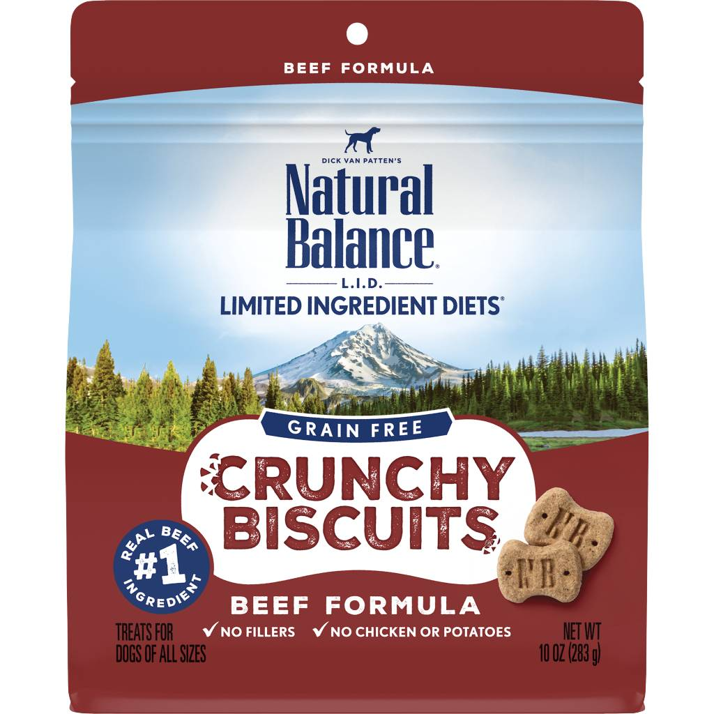 Natural Balance Natural Balance Limited Ingredient Crunchy Biscuits Beef Dog Treats 10oz