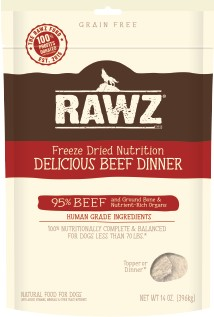 Rawz Rawz Delicious Beef Dinner Freeze Dried Dog Food 5oz