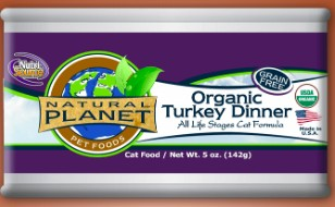 NutriSource Natural Planet Organic Turkey Wet Cat Food 5oz