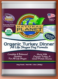 NutriSource Natural Planet Organic Turkey Wet Dog Food 13oz