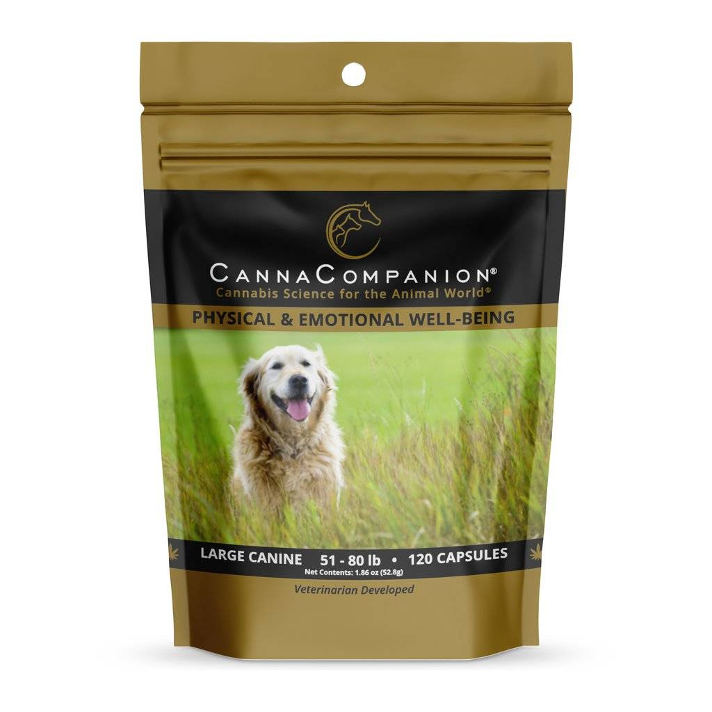 Canna Companion Canna Companion Regular Strength Large Dog CBD Supplement 51-80lbs 60ct
