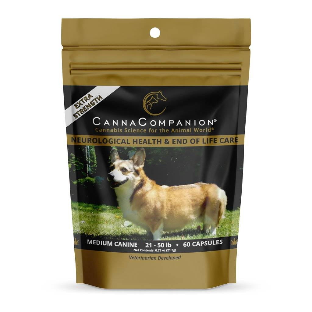 Canna Companion Canna Companion Extra Strength Medium Dog CBD Supplement 21-50lbs 60ct