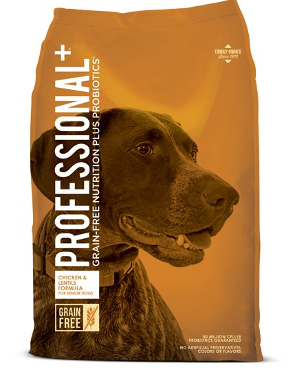 Diamond Diamond Professional+ Grain Free Senior Chicken & Lentils Dry Dog Food 28#