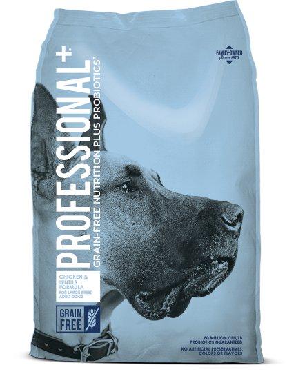 Diamond Diamond Professional+ Grain Free Large Breed Chicken & Lentils Dry Dog Food 28#