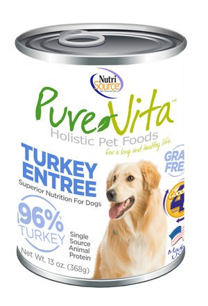 NutriSource PureVita Grain Free Turkey Entrée Wet Dog Food 13oz