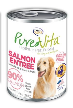 NutriSource PureVita Grain Free Salmon Entree Wet Dog Food 13oz