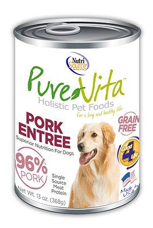 NutriSource PureVita Grain Free Pork Entree Wet Dog Food 13oz