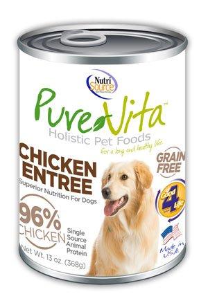 NutriSource PureVita Grain Free Chicken Entree Wet Dog Food 13oz