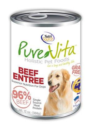 NutriSource PureVita Grain Free Beef Entree Wet Dog Food 13oz