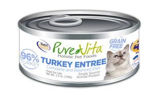 NutriSource PureVita Grain Free Turkey Entree Wet Cat Food 5.5oz