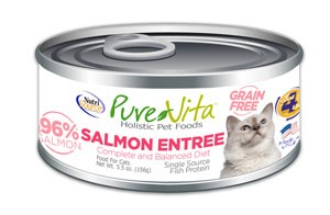 NutriSource PureVita Grain Free Salmon Entree Wet Cat Food 5.5oz