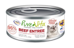 NutriSource PureVita Grain Free Beef Entree Wet Cat Food 5.5oz