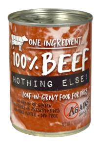 Against the Grain Against The Grain Nothing Else Beef Wet Dog Food 11oz