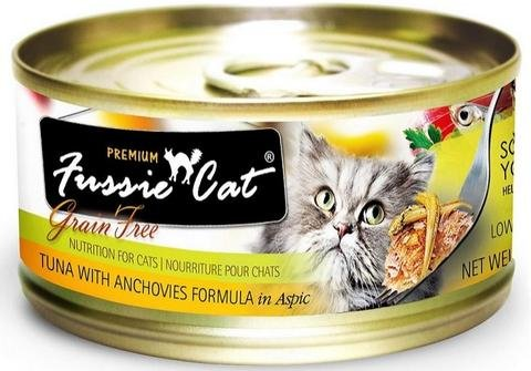Zignature Fussie Cat Tuna with Anchovies Wet Cat Food 2.8oz