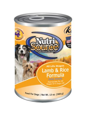 NutriSource NutriSource Lamb & Rice Wet Dog Food 13oz