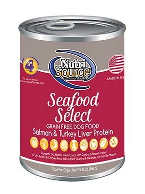 NutriSource NutriSource Grain Free Seafood Select Salmon & Turkey Wet Dog Food 13oz