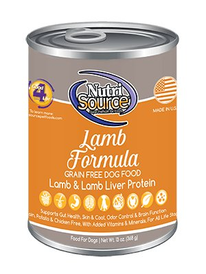NutriSource NutriSource Grain Free Lamb & Lamb Liver Wet Dog Food 13oz