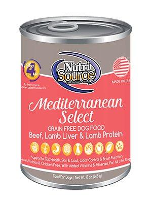 NutriSource NutriSource Grain Free Mediterranean Select Wet Beef & Lamb Dog Food 13oz