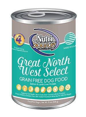 NutriSource NutriSource Grain Free Great Northwest Select Salmon & Lamb Liver Wet Dog Food 13oz