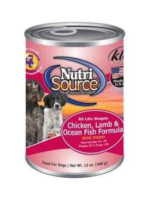 NutriSource NutriSource Chicken, Lamb & Ocean Fish Wet Dog Food 13oz