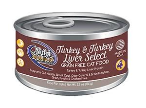 NutriSource NutriSource Grain Free Turkey & Turkey Liver Select Wet Cat Food 5.5oz