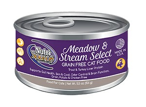 NutriSource NutriSource Grain Free Meadow & Stream Select Trout & Turkey Liver Wet Cat Food 5.5oz