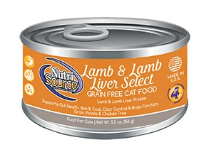NutriSource NutriSource Grain Free Lamb & Lamb Liver Select Wet Cat Food 5.5oz